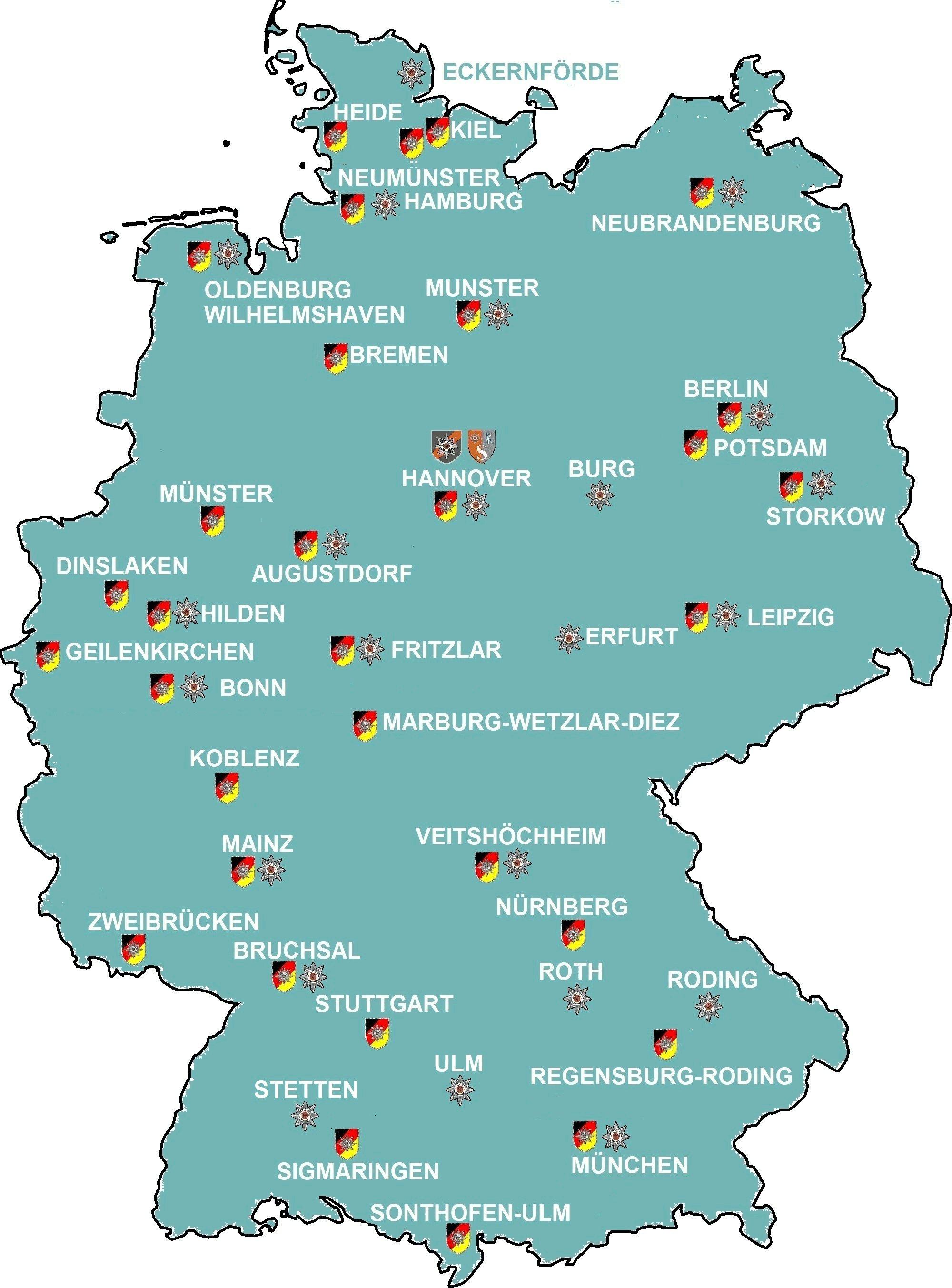Landkarte Bundesweit